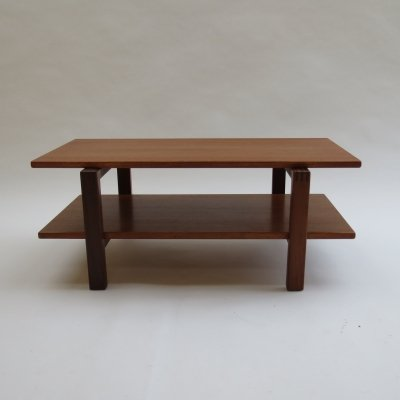 Midcentury Afromosia And Teak Coffee Table / Media Stand, 1960s