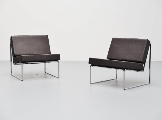 Pair of Kho Liang Ie 024 lounge chairs for Artifort, 1962