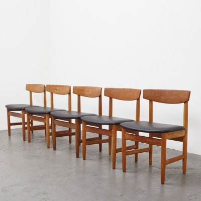 Borge Mogensen set of 5 Oresund Dining Chairs for Karl Andersson & Soner, 1955