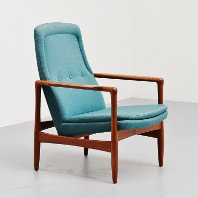 Ib Kofod Larsen easy chair by Selig Imports, Denmark 1962