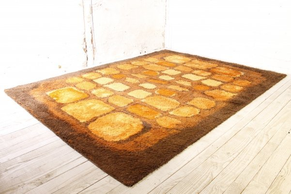 Big Space Age Rug by Herforder Teppiche Germany, 1970s