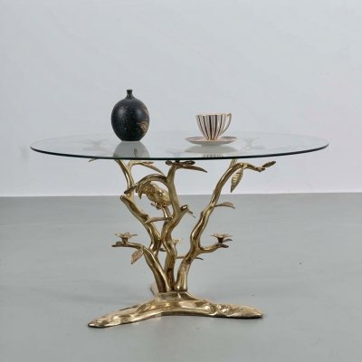 Sculptural 70's coffee table by Willy Daro