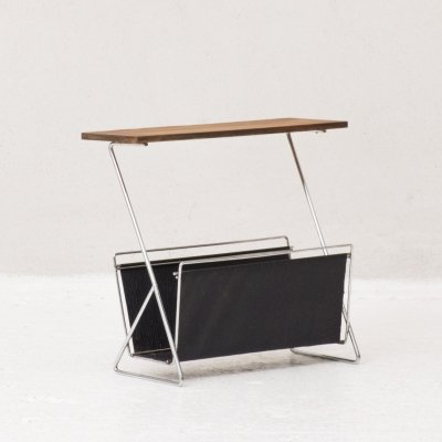 Side table with magazine holder by Brabantia, 1970's