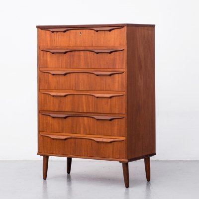 Danish chest of 6 drawers by Klaus Okholm, 1960s