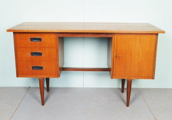 Vintage writing desk with drawers, 1950s