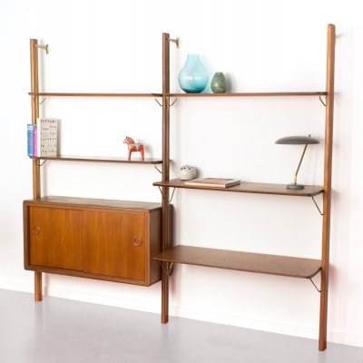 Vintage Fristho teak wall unit by William Watting, 1960's