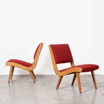 Jens Risom Pair of Vostra Easy Chairs for Walter Knoll, 1941
