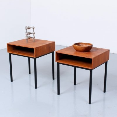 Small teak nightstands or sidetables