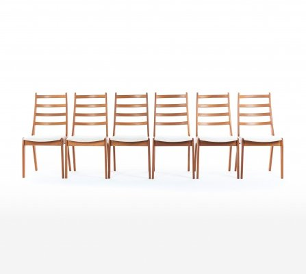 Set of 6 dining chairs by Kai Kristiansen for Korup Stolefabrik, 1960s