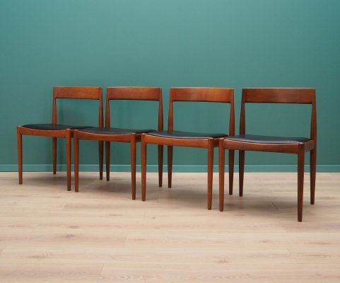 Set of 4 dining chairs by Kai Kristiansen for Fritz Hansen, 1960s