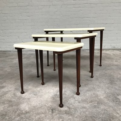 Vintage Nesting Tables by Ornalite, Portugal 1960s