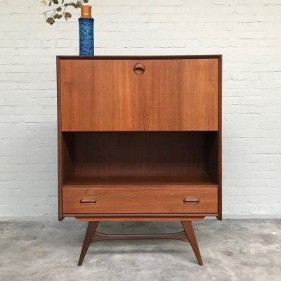 Teak Cabinet / Desk by Louis van Teeffelen for Wébé, 1950s