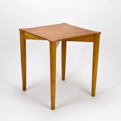 Beech Portex Side Table by Hvidt & Mølgaard-Nielsen for Fritz Hansen, Denmark 1950s