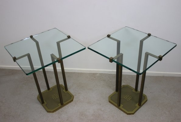 Set of 2 Peter Ghyczy T18 side tables, 1970s