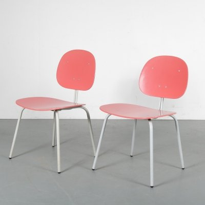 Pair of Auping dining chairs, 1950s