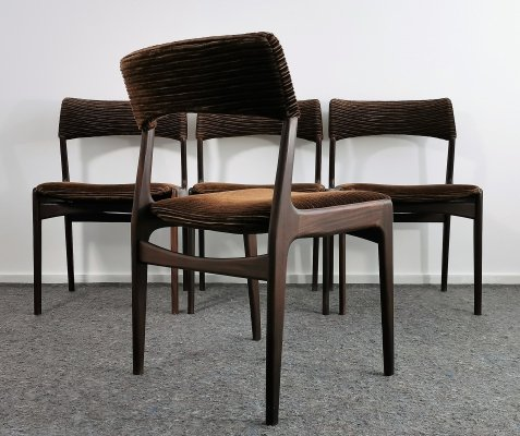 Set of 4 Rosewood Dining Chairs, 1960's