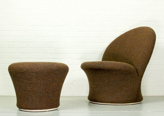 F572 Lounge Chair & mushroom ottoman by Pierre Paulin for Artifort, 1967