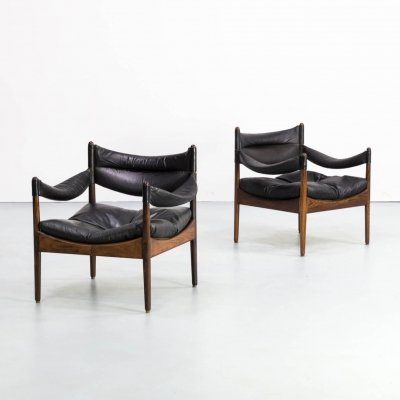 Pair of Kristian Solmer Vedel lounge chairs for Søren Willadsen, 1960s