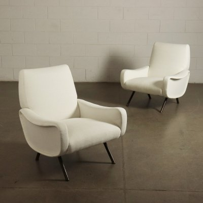 Pair of Lady Armchairs by Marco Zanuso for Arflex