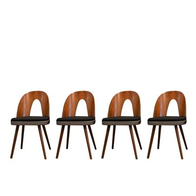 Set of 4 Walnut Dining Chairs by Antonín Šuman for Mier, 1960s
