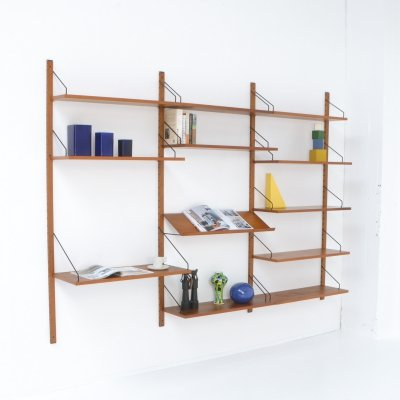 Modular Wall Unit Royal System by Poul Cadovius