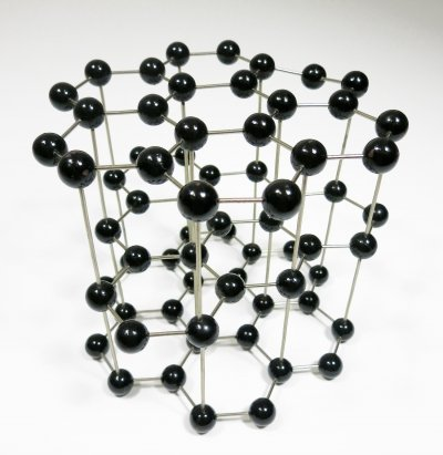 Vintage Molecular Model of a Graphite Crystal, Czechoslovakia 1950s