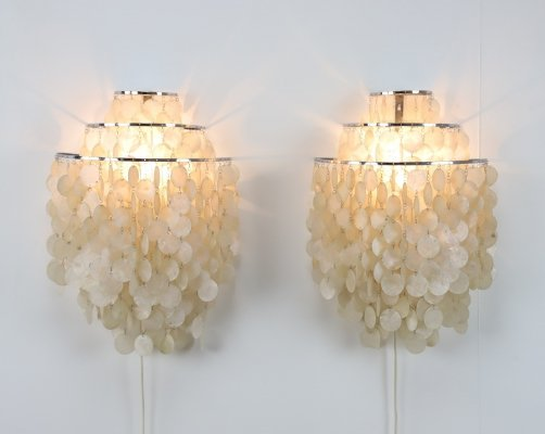 Pair of WM1 wall lamps by Verner Panton for J. Lüber AG, 1960s