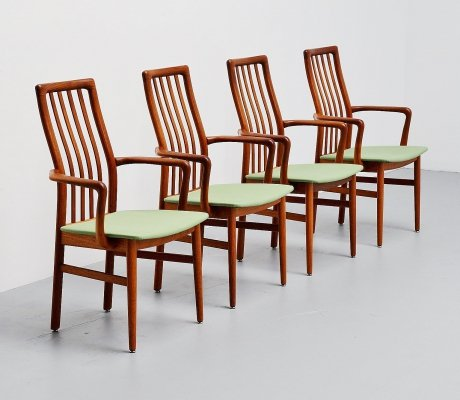 Set of 4 Niels Koefoed armchairs, Denmark 1960