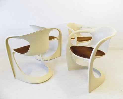 Set of 4 creme colored 'Casalino' chairs by Alexander Begge for Casala, 1970s