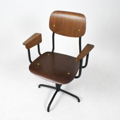 Revolving office chair in plywood, 1950s