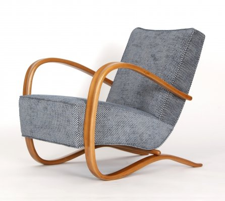 Art Deco Lounge Chair H 269 by Jindřich Halabala for UP Závody, 1930s