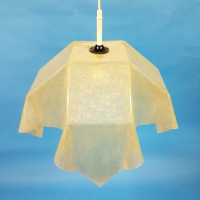 Rare hanging fazzoletto lamp by Salvatore Gregorietti for Valenti luce Italy