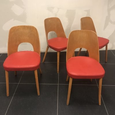Set of 4 dining chairs by Oswald Haerdtl for Thonet, 1960s