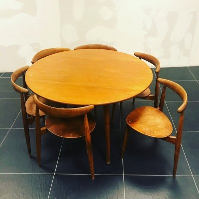 Heart dining set by Hans Wegner for Fritz Hansen, 1950s