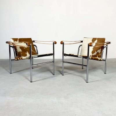 Pair of LC1 Armchairs by Le Corbusier for Cassina, 1970s