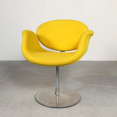 Yellow Tulip Chair by Pierre Paulin for Artifort, 1970s