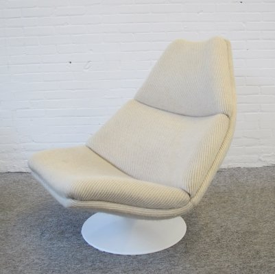 Vintage Lounge Swivel Chair F510 by Geoffrey Harcourt for Artifort, 1960s