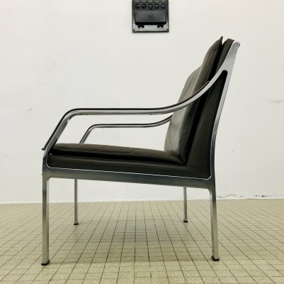 Vintage 'Alpha' leather lounge chair by Dreipunkt/Walter Knoll, 1980s
