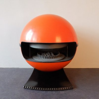 Orange '2000' gas heater by Richard Wolthekker for Faber, The Netherlands 1970's