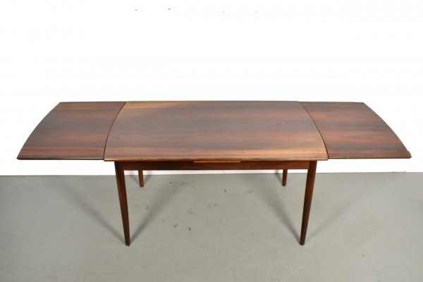 Large extendable rosewood dining table, 1960s