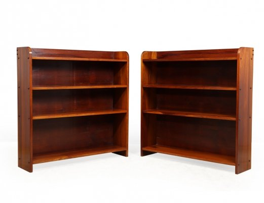 Pair of Mid Century Brazilian Bookcases in Jacaranda, 1960s