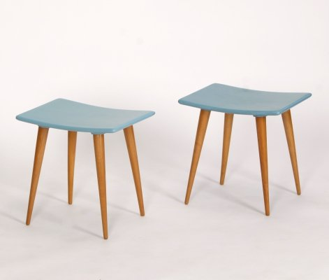 Pair of Mid-Century Stools, 1960s