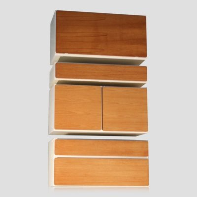 Vintage retro formica & teak wall mounted unit by Beaver & Tapley, 1970s