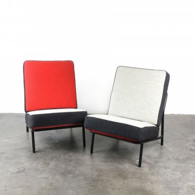 Pair of Dux lounge chairs by Alf Svensson for Artifort, 1950s