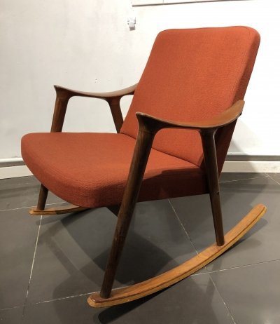 Rare Rocking Chair by Ingmar Relling for Westnofa, 1960s