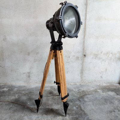 Industrial tripod floor lamp, 1970s