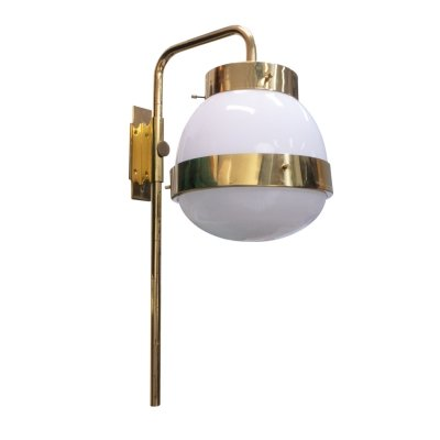 Brass 'Delta' Wall Lamp by Sergio Mazza for Artemide, 1960s