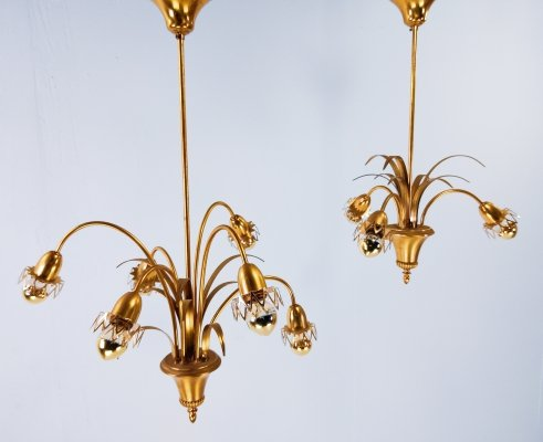 Pair of Brass Pendants by S.A. Boulanger