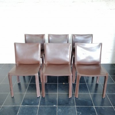 Set of 6 CAB412 dining chairs by Mario Bellini for Cassina