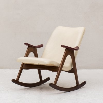 Rocking chair by Louis Van Teeffelen, Dutch design 1950's